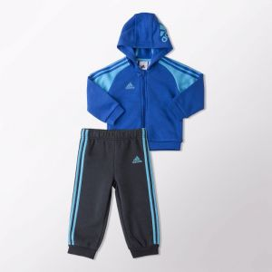 Dres adidas 3 Stripes Full Zip Hooded Jogger Kids AB6920