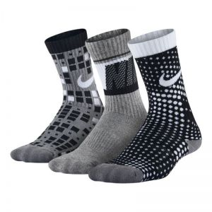 Skarpety Nike Cotton Cushion Multi-Graphic Crew Sock 3pak Junior SX5097-904