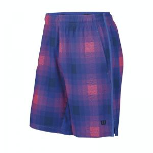 Spodenki tenisowe Wilson Summer Blur Plaid Stretch Woven 10 Short WRA700401
