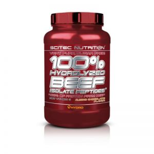 100% Hydrolyzed Beef Isolate Peptides SCITEC NUTRITION 900g + GRATISY truskawkowy
