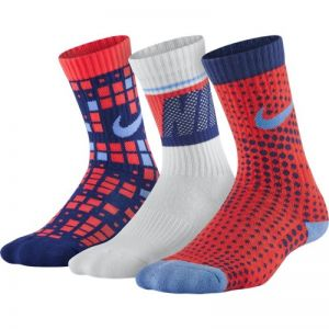 Skarpety Nike Cotton Cushion Multi-Graphic Crew Sock 3pak Junior SX5097-941
